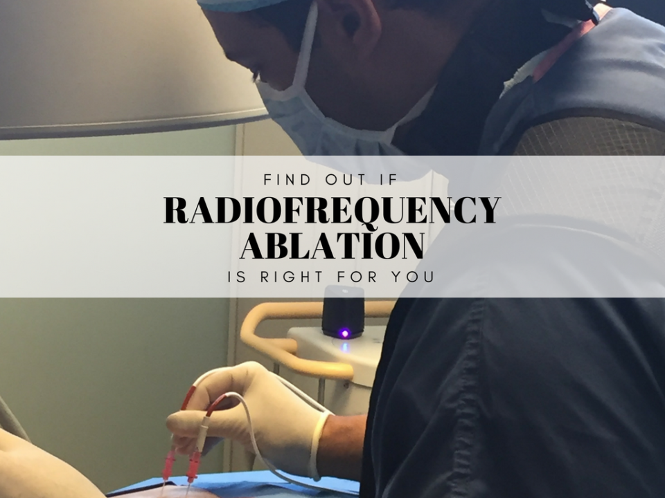 A photo of a Radiofrequency Ablation procedure being done. This procedure is done to to Treat Chronic Pain.